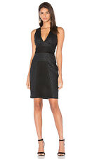 KENDALL & KYLIE GRID LASER CUT BLACK DRESS sz L
