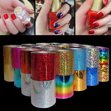 12 Color Galaxy Transfer Foils Sticker Roll Set for Nail Art Tips Decor Gifts