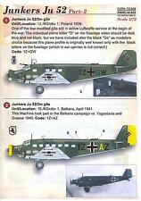 Print Scale Decals 1/72 JUNKERS Ju-52 German WWII Transport Part 2