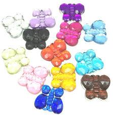 New Hot 100Pcs 10MM Resin Butterfly Flowers Flatback Scrapbook For Craft Mix&