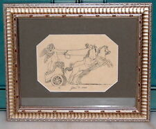 French 19th Century Architect Decoration Drawing Paper Genie de Mars