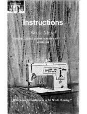 Singer 348 Sewing Machine/Embroidery/Serger Owners Manual