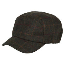 Heritage Traditions Womens Mens Green Window Tweed Skip Cap Hat