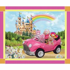 "Build-A-Bear Workshop Princess Collection 100% cotton 43"" fabric panel 36"""