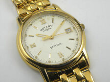 Rotary Anniversary Gold Plated Gents Wrist Watch GB0713
