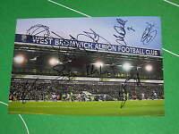 West Bromwich Albion WBA Stadium Photo Signed by 2013/14 Squad - 8 Autographs!