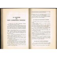 ŒUVRES de Maurice THOREZ Janvier-Sept 1938 Espagne Républicaine Paix Hitler 1955