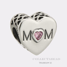 Authentic Pandora Sterling Silver Mother Heart Bead 791881PCZ
