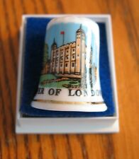 TOWER OF LONDON  Porcelain Thimble in case