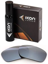 Polarized IKON Iridium Replacement Lenses For Oakley Fives Squared Silver Mirror