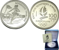 elf France 100 Francs 1989 Proof Silver  Olympics Ice Dancing Pair