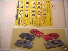 FERRARI 250 SWB LE MANS 1960 DECAL 1/43