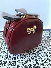 UK Womens 1950s Cute Small Round Shape Bow Satchel Shoulder Handle Messenger Bag