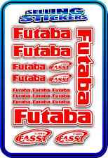 FUTABA SERVO RADIO RX TX 2.4G FLIGHT REMOTE CONTROL STICKERS FASST RED WHITE NEW