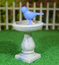 Ideal  BIRD BATH Vintage Tin Dollhouse Furniture Renwal Miniature Plastic 1:16