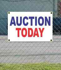 2x3 AUCTION TODAY Red White & Blue Banner Sign NEW Discount Size & Price