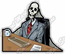 """Call Center Dead Office Worker Job Car Bumper Window Vinyl Sticker Decal 4""""X5"""""""