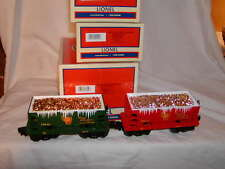 Lionel 6-82709 Christmas Holiday PRR Silver Gold Ore Car 2 pk O 027 2015 New MIB