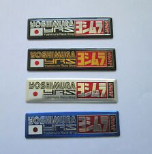 YOSHIMURA YRS JAPAN Exhaust Aluminium plate emblem sticker Set of 4
