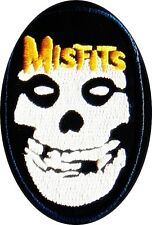 Misfits patch (oval) iron on/sew on cloth patch (tg)  REDUCED TO CLEAR==========