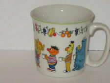 Gorham Fine China 1976 CTW Sesame Street Muppets Cup Mug White Characters