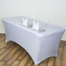 1 Pcs Stretch Spandex Rectangular Tablecloth 4Ft Folding Fitted Table Cover