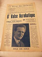 Partition 6ème Valse Acrobatique  Emile Van Herck