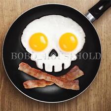 Emporte pièce oeuf DIY silicone moule à omelette tête de mort crêpes cercle