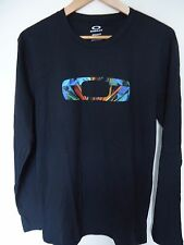 OAKLEY MEN'S REFRACT TEE, REGULAR FIT,  LONG SLEEVE,BLACK, SIZE M, NWT