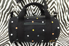 FRED PERRY L4197 MINI Barrel Handbag Black Small Shoulder Cross Body Bag BNWT
