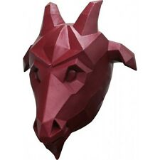 Goat Red Low Poly Mask Fancy Dress Adult