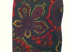 Vintage mens tie necktie Cravats of London handmade all silk red paisley floral