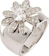 Damen Ring 925/- Sterlingsilber mit Zirkon Blume