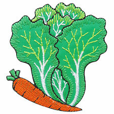 Lettuce Carrot Nature Vegetable Chinese Cabbage Foods Fruit Iron-On Patch #F030