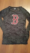 touch by ALYSSA MILANO Boston Red Sox Sequin Longsleeve Burnout Shirt Black