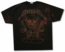 METALLICA PUSHEAD BORIS ALL OVER PRINT BLACK T-SHIRT 2XL NEW OFFICIAL