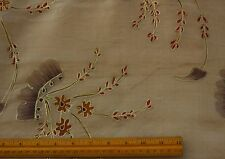 "White 100% Silk Organza Hand-Painted/Embroidered Fabric 44"" Wide By Yard EB-974B"