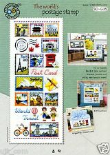 """""""Postage Stamp of the world"""" counted cross stitch pattern leaflet. SODA SO-G35"""