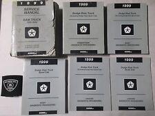 1999 DODGE RAM TRUCK 1500-3500 SERVICE SHOP REPAIR MANUAL SET FACTORY OEM