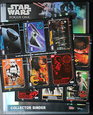 TOPPS STAR WARS ROGUE ONE FULL SET 212 CARDS + BINDER +ALL 5 LTD +2X PROMO SHEET