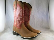 NEW WOMEN'S MUSTANG BY DURANGO BOOT (DRD0134) BROWN BURNT ORANGE 8 MED $160