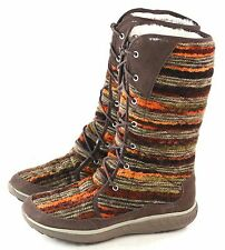 Merrell Womens Pechora Sky Lined Winter Boot Espresso Brown Multi Size 8.5