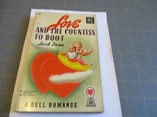 Love and The Countess to Boot by Jack Iams 1947  Pulp Era Dell Romance Mapback