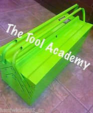 BRAND NEW & BOXED HI VIS GLOW UP GREEN 530mm LONG CANTILEVER TOOLBOX WITH HANDLE