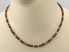 Saphirkette - bunte Saphir Rondelle aus Afrika Halskette für Damen 45 cm