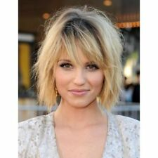 Trendy Fluffy Natural Straight Black Ombre Light Blonde Charming Short Wig Hair