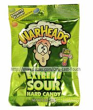 WARHEADS^* 2 oz Bag Hard Candy EXTREME SOUR Assorted Flavors CANDIES Exp. 10/19