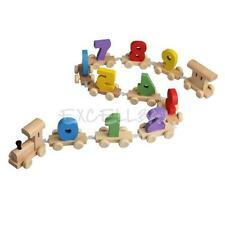 Kids Baby Infant Developmental Toys Wooden Train Truck Digital Blocks Xmas Gift