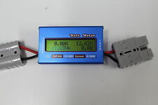 ANDERSON PLUG 12V 4X4 VOLT METER BATTERY CAR FRIDGE MONITOR SOLAR AGM WATTMETER