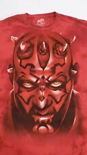 Star Wars: 'Darth Maul' Red 100% Cotton Tie-Dye T-Shirt sz Large Limited Edition
